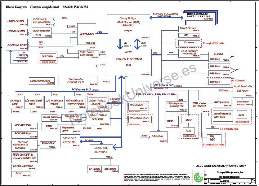 Dell Latitude E6420  Discrete  Schematic  U2013 Compal La