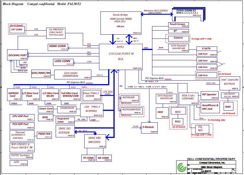 Dell Latitude E6420 Schematic  U2013 Compal La