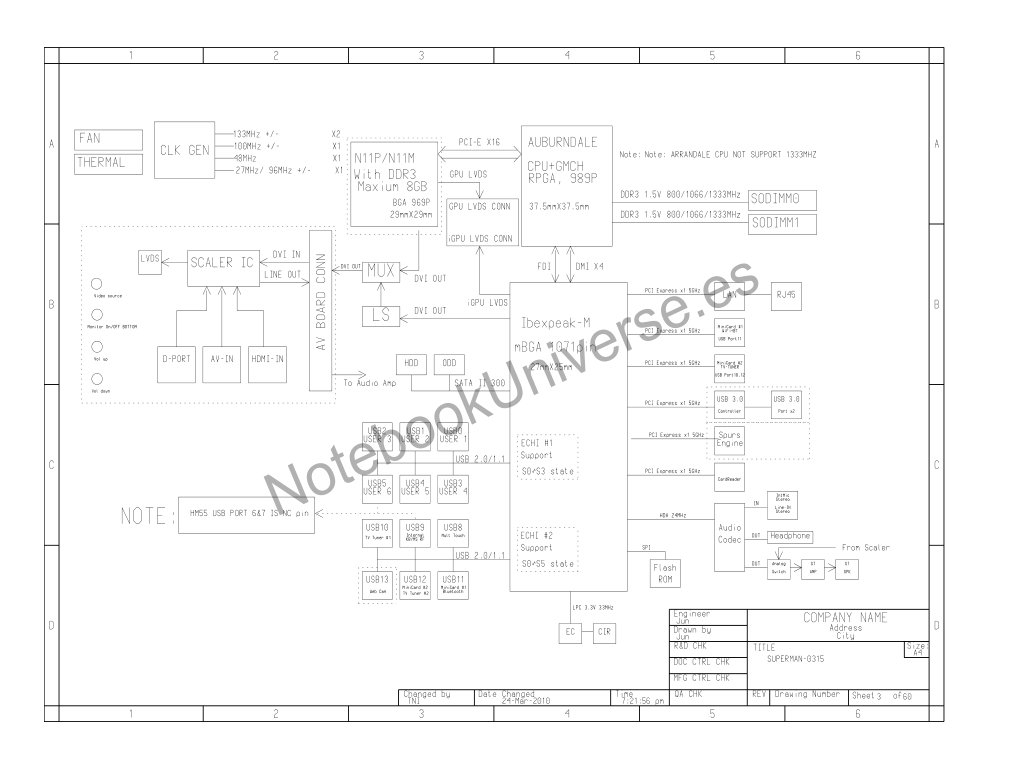 Notebook Schematics At Best Price Allinone Schematic Laptop Diagram For Toshiba Dx1210 All In One Desktop Inventec Whitney Mainboard Cpu Auburndale Vga N11p N11m With Ddr3 Chipset Ibexpeak M