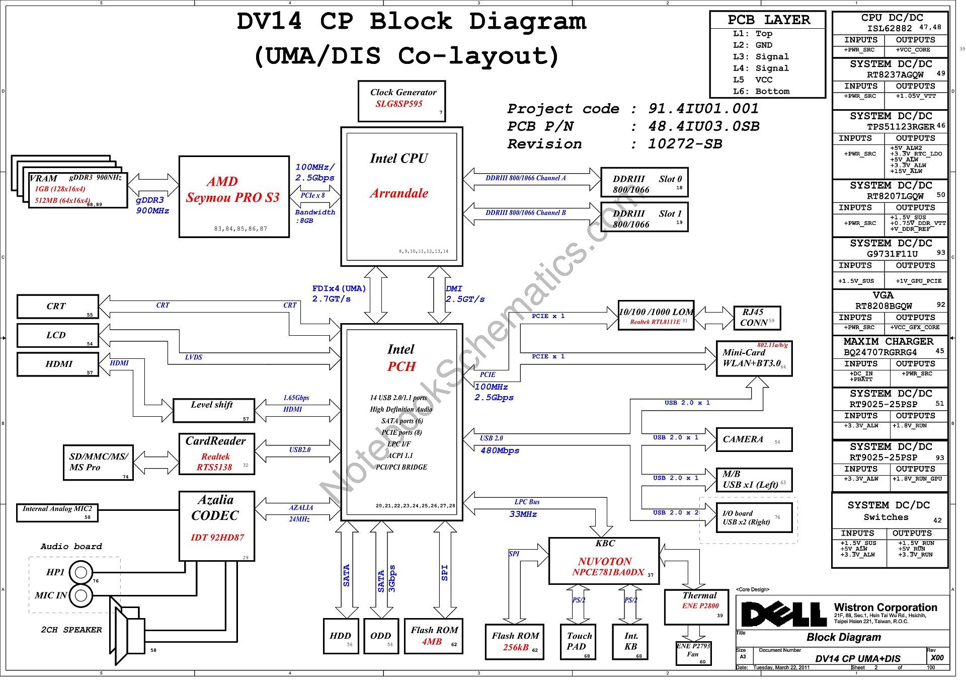 dell vostro 1440 schematic  u2013 wistron dv14 cp uma dis schematic