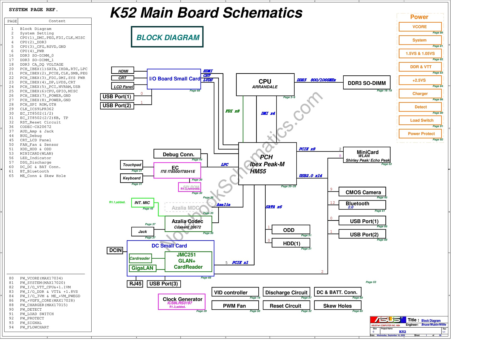 Asus K52 Schematic