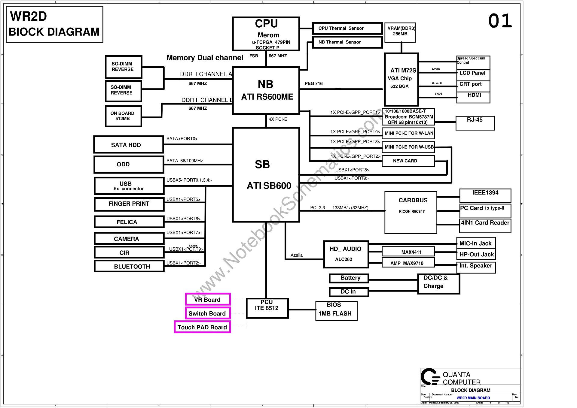 quanta wr2d rev 1a schematic