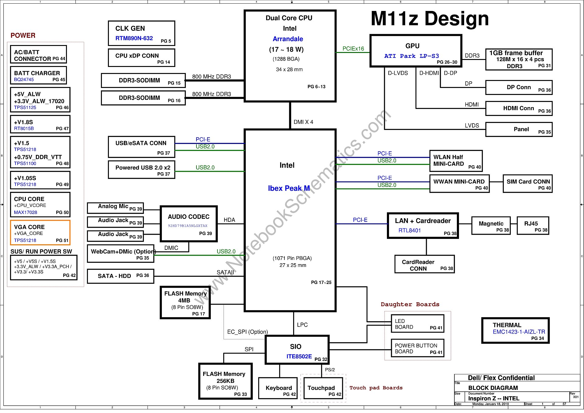 dell inspiron 13z  n301z  schematic  u2013 inspiron z intel
