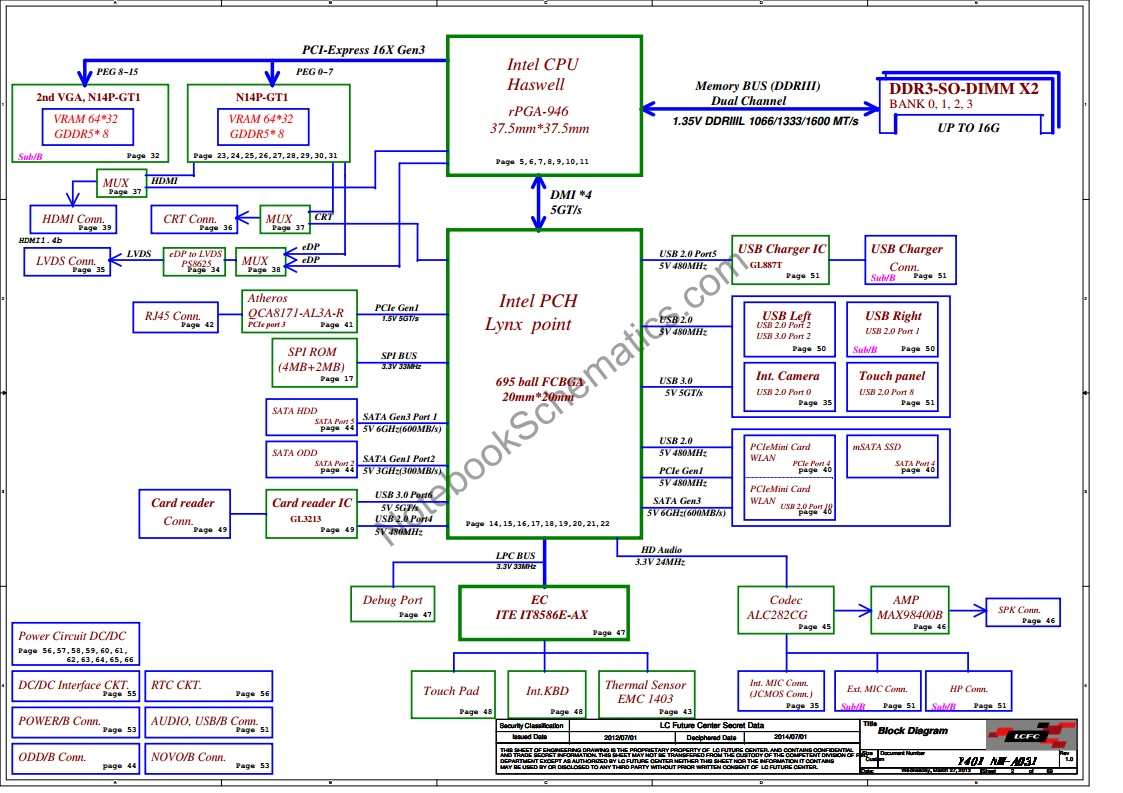 Compal  U2013 Page 33  U2013 Notebookschematics Com