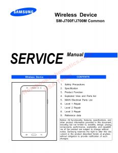05 SM-J700F service manual schematics