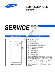 SM-G900 Series Service Manual And Schematics