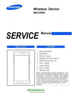 SM-A500H Service manual