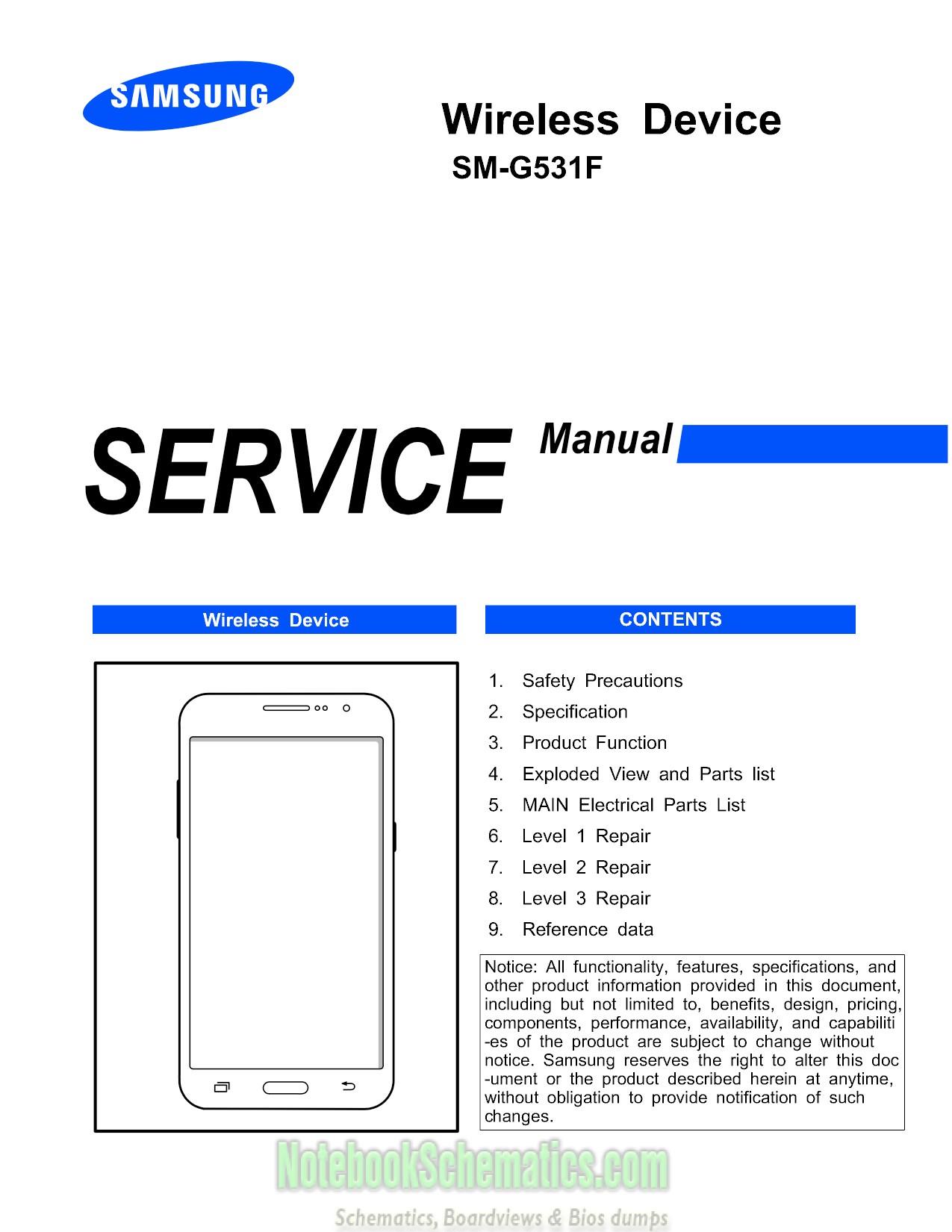 Samsung    Galaxy Grand Prime Service Manual     SMG531F