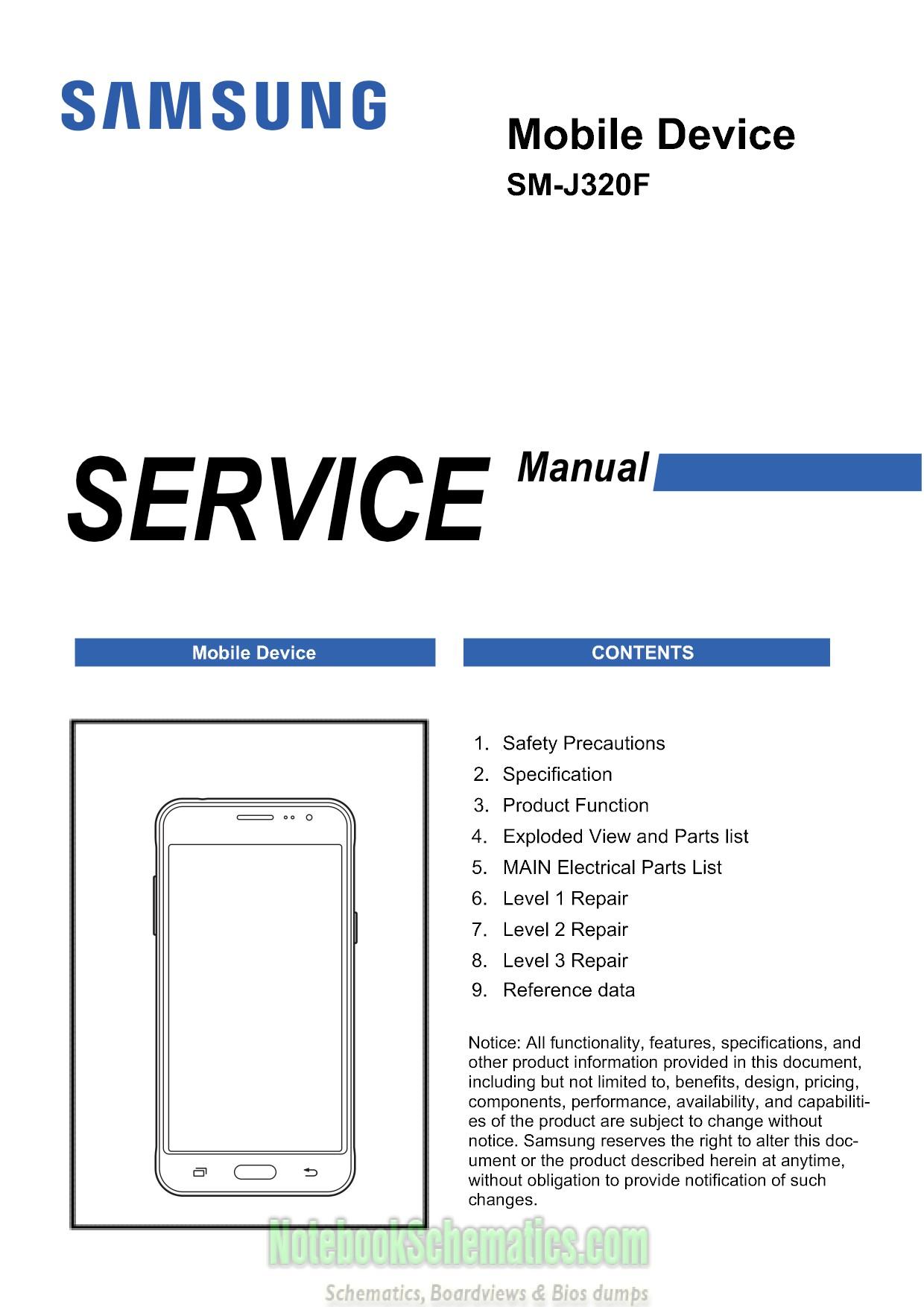 Samsung Galaxy J3  2016  Service Manual  U2013 Sm