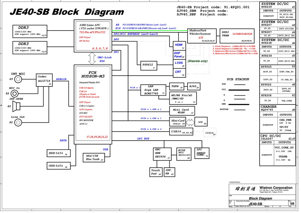 acer aspire 4560  4560g schematic je40